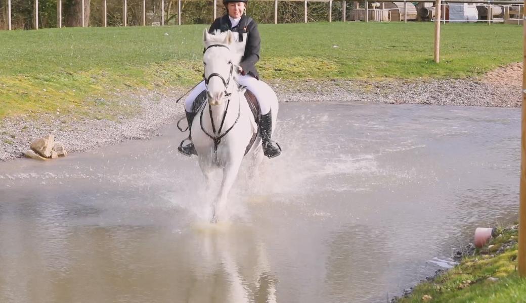 BHS Horse Rider through water