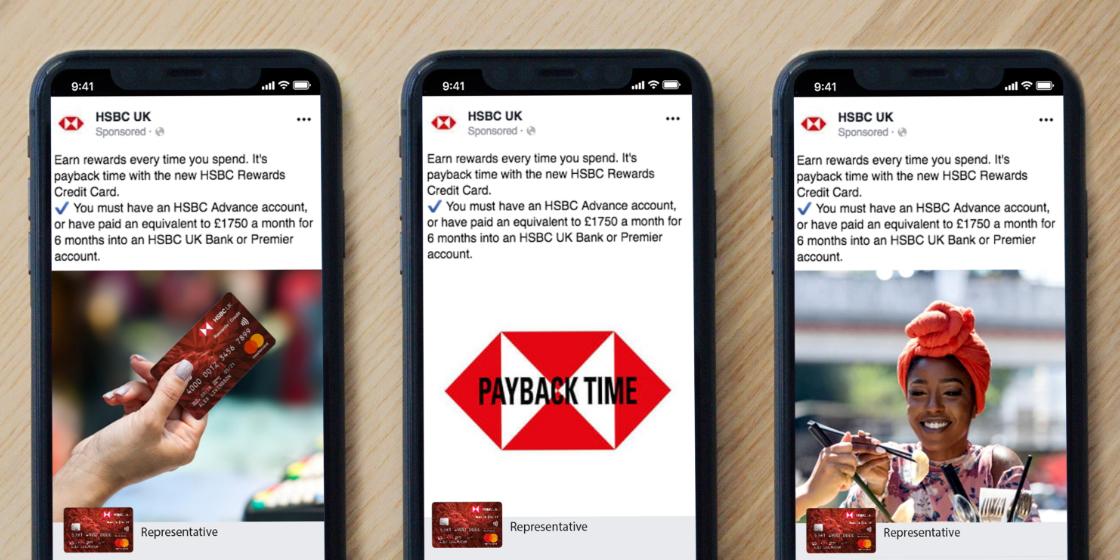 HSBC Payback Time Social posts