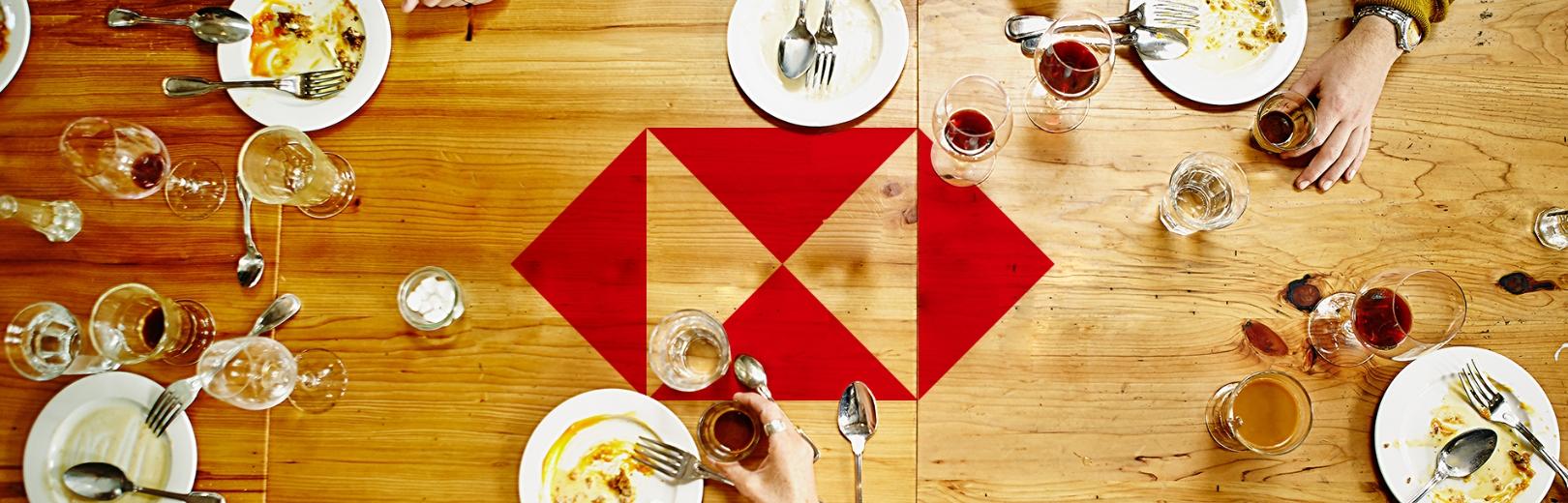 HSBC table scene